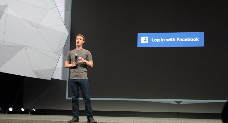 Mark Zuckerberg at a Facebook conference