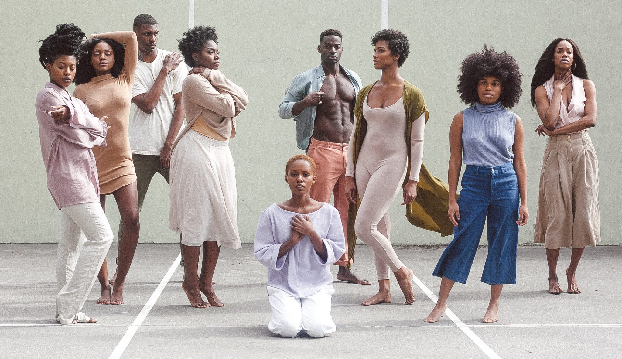 Stock image of Black dancers in different poses